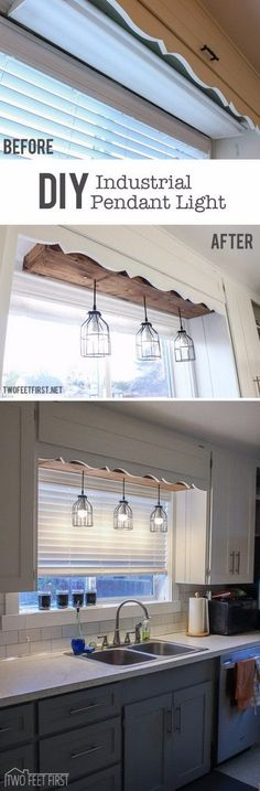 Make the Plain Space Fun Using a DIY Pendant Cage Light with a Wooden Box. by francis