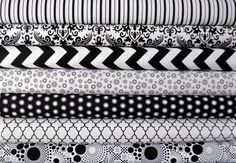 Black and White Modern Fabric Bundle by by SouthernStichesShop, $32.00