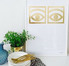 Cocoa Eyes by Olle Eksell - gold edition Olle Eksell, Vintage Medical, African Textiles, Environmental Graphics, Next At Home, One Design, Op Art, My Room, Interior And Exterior