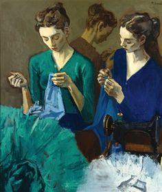 "Moses Soyer (Russian born American, 1899 – 1974) ""The Costume Makers"""
