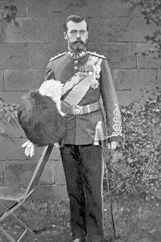 Nicholas 2 in the uniform of a Scottish Guardsman.