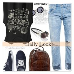 """""""""""Some days we say words that don't mean a thing"""". #183"""" by raruna-diamond ❤ liked on Polyvore featuring Citizens of Humanity, Miu Miu, Brahmin, Vans, Frends and modern"""