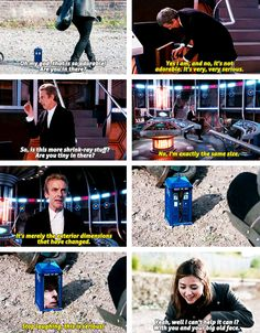 """8x09 Flatline - """"no, it's not adorable, it's very, very serious."""" - Clara and 12th Doctor"""