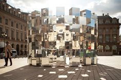 5osA: [오사] :: *어반 미러 링 설치물 [ Arnaud Lapierre ] 'Ring' Mirror Installation