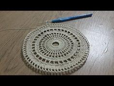 Tığ işi Örgü Sehpa Örtüsü Part 1 & Dantel Modelleri & Crochet - YouTube Crochet Art, Irish Crochet, Crochet Motif, Crochet Doilies, Doily Patterns, Crochet Patterns, Crochet Table Mat, Hand Embroidery Videos, Circular Pattern