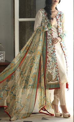 Buy Embroidered Cotton Lawn Suit by Orient Lawn Collection.