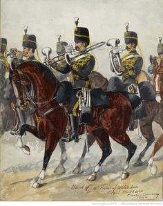British; 10th Prince of Wales's Own Royal Hussars, Band, c.1890 by Charles Conroy