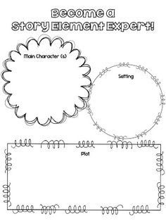 Free printables for common core standards 3.RL.3, 4.RL.3, and 5.RL.3...Story Elements!