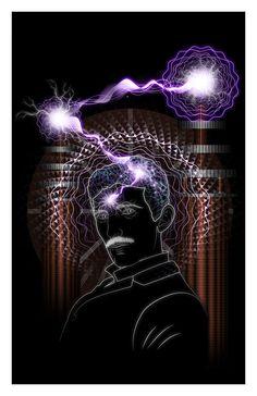 Archival/Non-Archival Nikola Tesla Print Art of Samuel Farrand