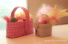 Origami easter baskets 570x374
