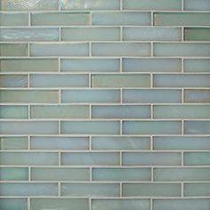 "Oceanside Glasstile...Collection Name: Blue™...Item Description: 3/4"" x 3 3/8"" Offset Joint...Square Feet Per Sheet: .86...Nominal Sheet Size: 10 3/8"" x 12""...Thickness: .24""...Sample Item Number: 103795"