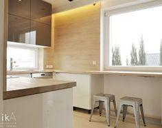 Projekt Myślenice - Średnia otwarta zamknięta kuchnia w kształcie litery l w kształcie litery u, styl nowoczesny - zdjęcie od TIKA