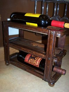 Sewing machine drawer wine rack http://bec4-beyondthepicketfence.blogspot.com/2008/10/little-bit-of-this-little-bit-of-that.html