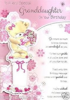 The 16 Best Granddaughter Birthday Cards Images On Pinterest