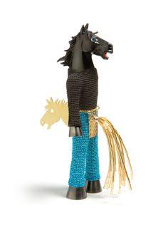 Felieke van Der Leest  Crazy Horse  Brooch - textile, silver, gold, plastic -   Charon Kransen Arts (SOFA NY 2012)