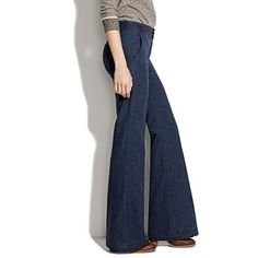 uh-oh, not only are widelegged jeans back in style... but i also like this pair!  $79.50