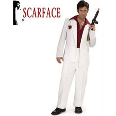 Tony Montana Scarface Adult Halloween Costume - One Size, Men's, Multicolor