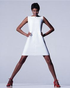 André Courrèges brought us the triangle shaped shift dress as the defining silhouette for the '60s.