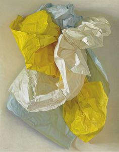 Claudio Bravo (Chilean, 1936-2011), White, Blue and Yellow Papers, 2004.