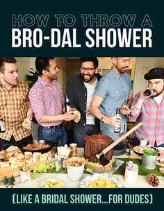 "Why Bro-Dal Showers Are The Next Big Thing In Weddings  I pinned this for one reason only- ""Holy Matrimony, Batman"""