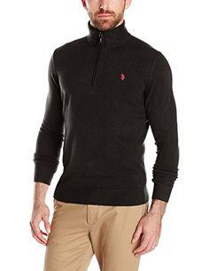 U.S. Polo Assn. Men's Solid Half-Zip Sweater - http://bigboutique.tk/product/u-s-polo-assn-mens-solid-half-zip-sweater/
