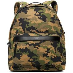 Jack Spade Men's Bonded Canvas Camouflage Backpack ($198) ❤ liked on Polyvore featuring men's fashion, men's bags, men's backpacks, black, mens canvas backpack, mens camo backpack and mens backpack