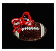 Football With Bow Applique - 3 Sizes! | What's New | Machine Embroidery Designs | SWAKembroidery.com Nobbie Neez Kids