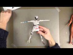 Het maken van een skelet van ijzerdraad en Paverpol - YouTube