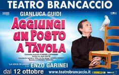Il Teatro Brancaccio inaugura la sua ottantesima stagione riportando in scena AGGIUNGI UN POSTO A TAVOLA, spettacolo di Pietro Garinei e Sandro Giovannini.