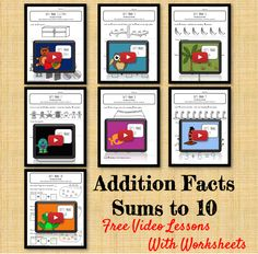 Addition Facts Lessons