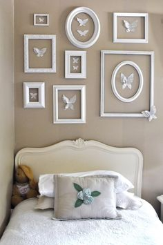 summer home tour Jennifer Rizzo: Summer tour of homes day Butterfly Wall!Jennifer Rizzo: Summer tour of homes day Butterfly Wall! Girls Bedroom, Bedroom Decor, Bedroom Wall, Bedroom Ideas, Girls Room Wall Decor, Purple Bedrooms, White Wall Decor, Bedroom Pictures, Frame Wall Decor