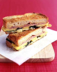 Basil, swiss cheese, and pineapple make this a ham sandwich to remember.