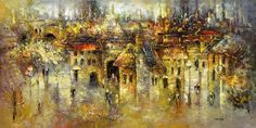Ancient Cities by Irena Gendelman, Acrylic on Canvas, Painting | Koyman Galleries