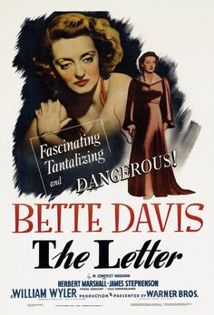 The Letter;1940; movie poster