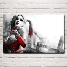 Harley Quinn Batman Arkham City Fabric poster 24 x 24 13 x 13 Decor Batman Arkham City, Batman Batman, Gotham City, Harley Quinn, Hd Widescreen Wallpapers, Hd 1080p, City Wallpaper, Wallpaper Backgrounds, Wallpaper Desktop