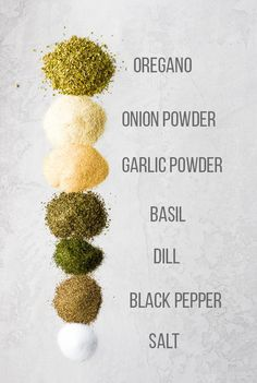 Easy Greek seasoning blend is made with simple pantry staples and is perfect for sprinkling on fish, chicken, and veggies! Prepare a big batch to save money and avoid unhealthy chemicals or additives found in Homemade Spices, Homemade Seasonings, Spice Blends, Spice Mixes, Low Carb High Fat, Low Gi, Do It Yourself Food, Spices And Herbs, Seasoning Mixes