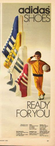 1972 Vintage Ad for Adidas Shoes`Red Blue White Gold 010514 | eBay