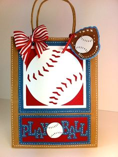 Play Ball Gift Bag using Cricut Sports Mania