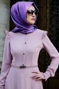 Gamze Polat Pudra Stil Fırfırlı Elbise