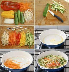 Comida rápida y sana, Verduras Salteadas   Espacio Culinario