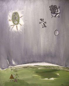Pieter Bas - Green Planet  (2006)  acryl op canvas