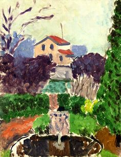 The Artist's Garden at Issy-les-Moulineaux / Henri Matisse - circa 1918