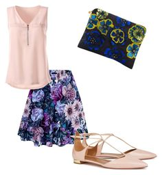 """""""Outfit"""" by averye-beard on Polyvore featuring Forest of Chintz and Aquazzura"""