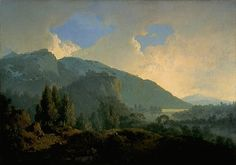 An Italian Landscape with Mountains and a River, 1790 - Joseph Wright