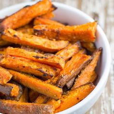 Baked Garlic Butter Sweet Potato Fries - healthy, tasty and easy to make.