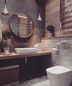Cre Best Bathroom Designs, Bathroom Interior Design, Interior Decorating, Decorating Ideas, Interior Modern, Rustic Bathroom Designs, Design Loft, Home Design, Design Ideas
