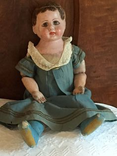 "RARE ORIGINAL ANTIQUE 22"" ELLA GAUNTT SMITH DOLL Alabama Baby Indestructible"