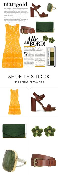 """""""Marigold and deep green"""" by martina-b33 ❤ liked on Polyvore featuring MICHAEL Michael Kors, Tod's, Will Leather Goods and Clinique"""