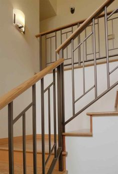 Modern railings for stairs perfect stair railing e home. Contemporary stair railing image of glass. Decor tips cool ideas to revamp your stairs using stylish exciting banisters design in glass with wood staircase for interior. Staircase Railing Design, Modern Stair Railing, Balcony Railing Design, Iron Stair Railing, Modern Stairs, Railing Ideas, Stair Design, Open Staircase, Staircase Ideas