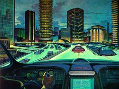 """""""The Roads That Glow"""" seems to be a special safety feature, conceived by Art…"""